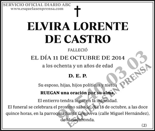 Elvira Lorente de Castro